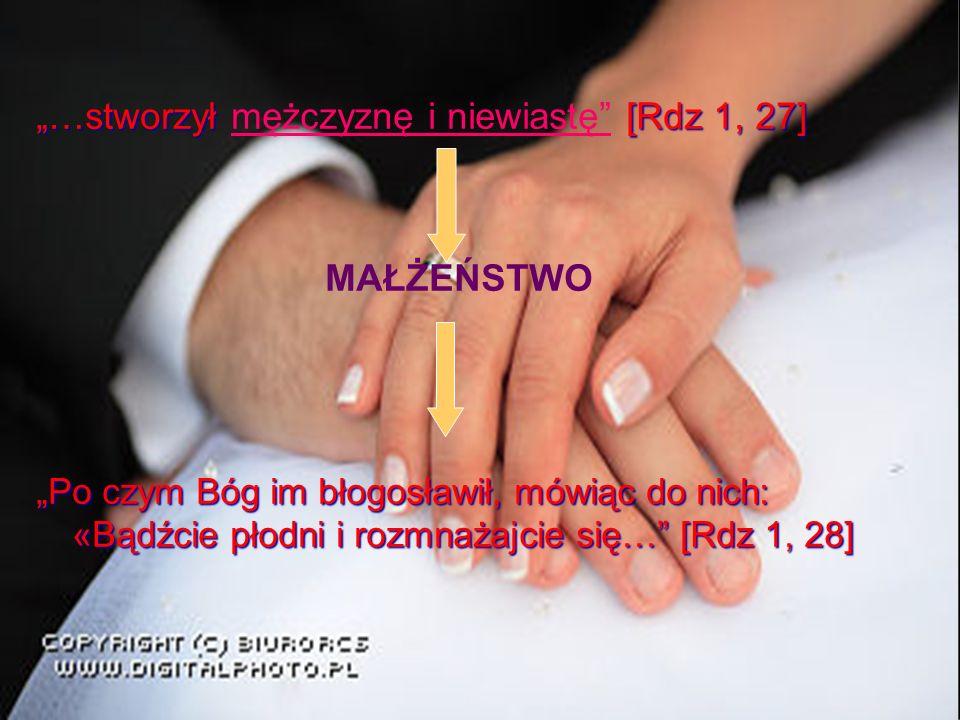"""""""…stworzył mężczyznę i niewiastę [Rdz 1, 27]"""